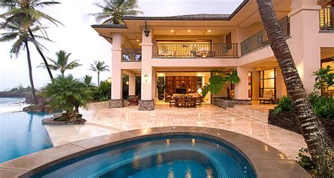 house luxury mansion palm trees pool image