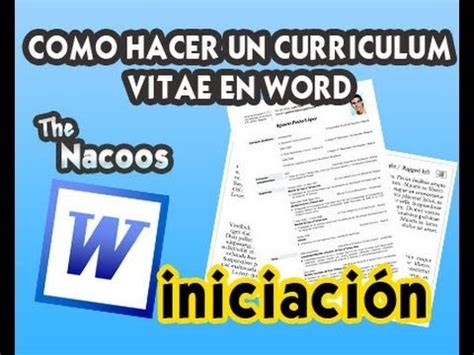 How To Upload A Resume Online by Como Hacer Un Curriculum Vitae En Word Youtube