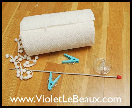 Paper Towel Holder Crafts - make shift paper towel holder violet lebeaux tales of