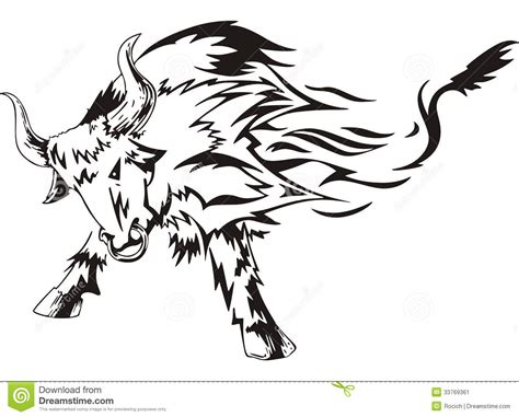 bull tattoo stock image image 33769361
