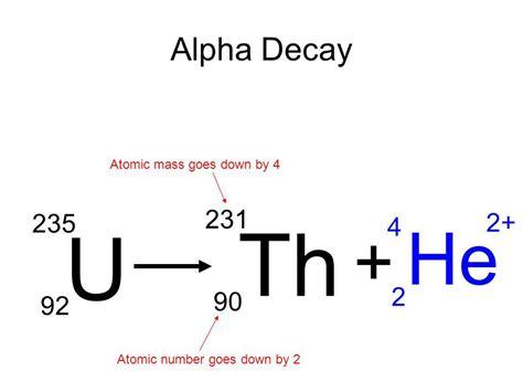 uranium protons and neutrons converting uranium to thorium by decreasing the number of