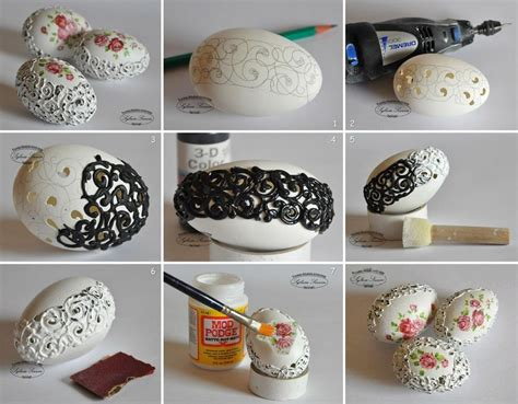Handmade Projects - easter eggs decorating ideas modern magazin