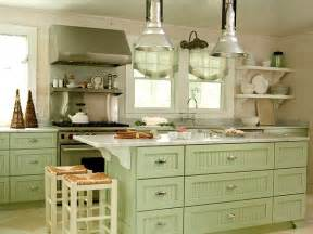 Green coastal kitchen myhomeideas com