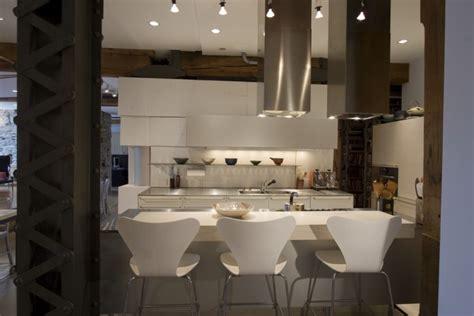 deco maison industrielle vue cuisine