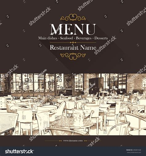 restaurant city layout with drinks coffeehouse coffee house restaurant menu menu stock vector