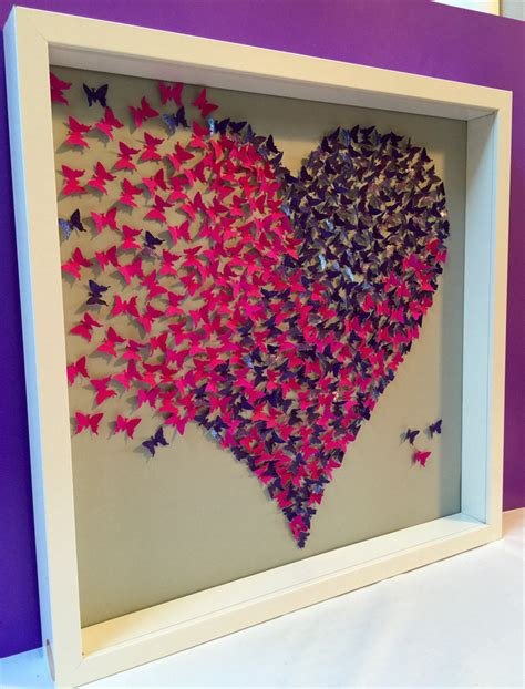 paper crafts for wall decor butterflies wall paper craft in 3d wooden