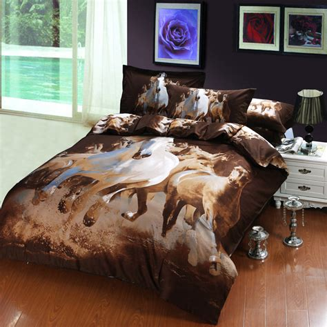 cool 3d horse print bedding sets full king size wolf