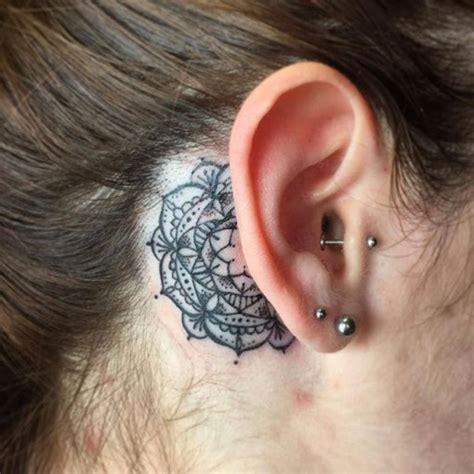 mandala tattoo behind ear best tattoo ideas gallery