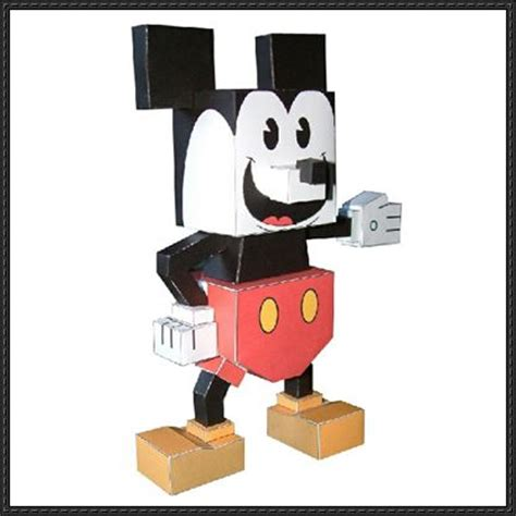 Mickey Mouse Papercraft - mickey mouse papercraftsquare free papercraft