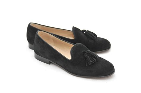 black loafers womens s jpc tassel black suede loafer