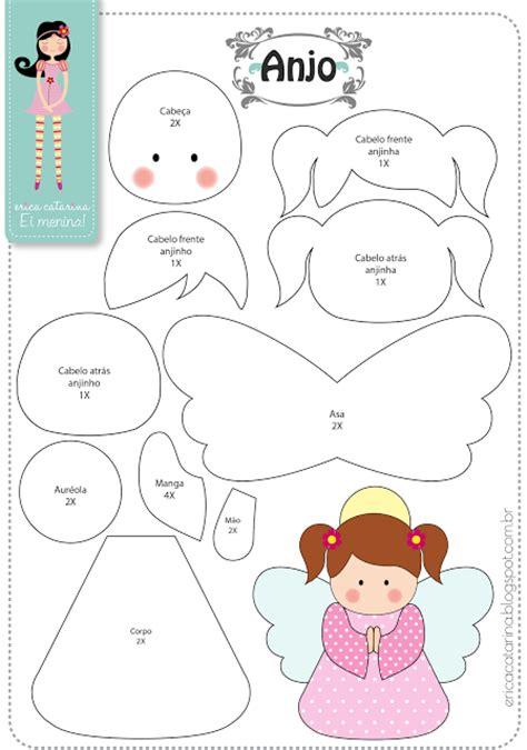 moldes de adornos fieltro para arbol como hacer angelitos en fieltro moldes incluidos paperblog