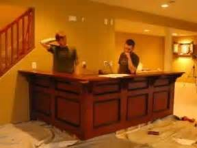 bar install with cabinets and soundtrack youtube