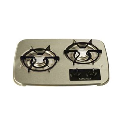 Rv Propane Cooktop rv lp propane tank drop in cooktop gas range stainless cover 2 burner appliances