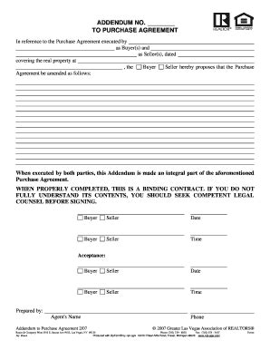 Blank Real Estate Contract Addendum Az Fill Online Printable Fillable Blank Pdffiller Townhome Lease Agreement Template