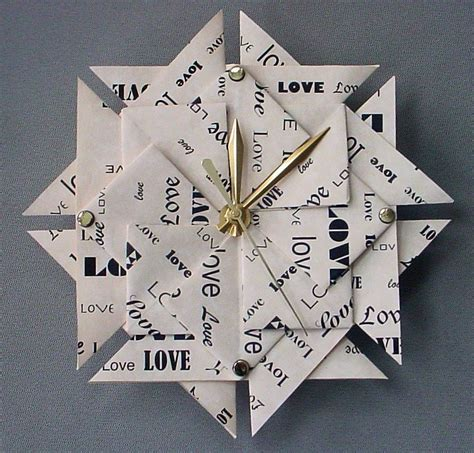 Origami Gift Ideas - memorable 1st anniversary gift origami clock paper
