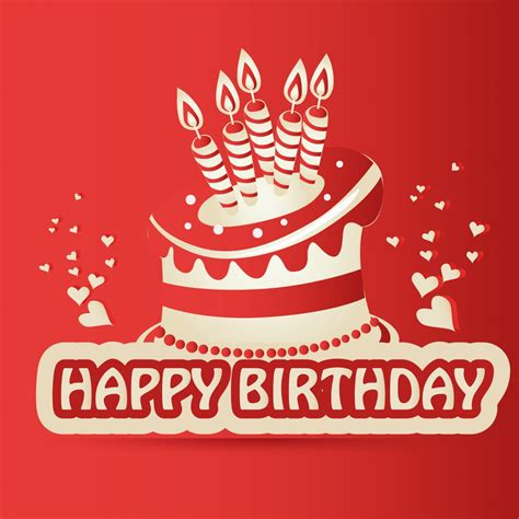 happy birthday red design happy birthday wishes cards images to kids elsoar