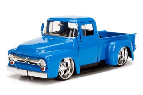 truck ford blue 1956 ford f100 truck blue just trucks 1 24 1