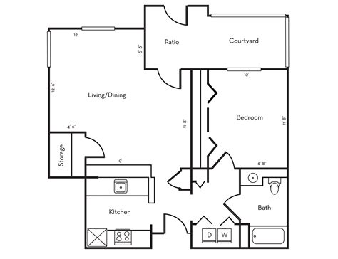 Floor Plan with Floor Plans Stanford West Apartments