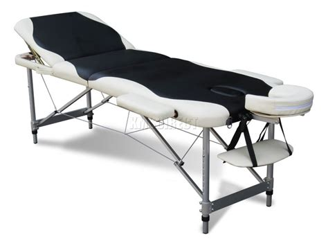lightweight massage couch aluminium folding massage table lightweight 3 section