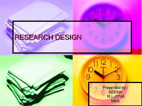 Rl Institute Mba by Research Design