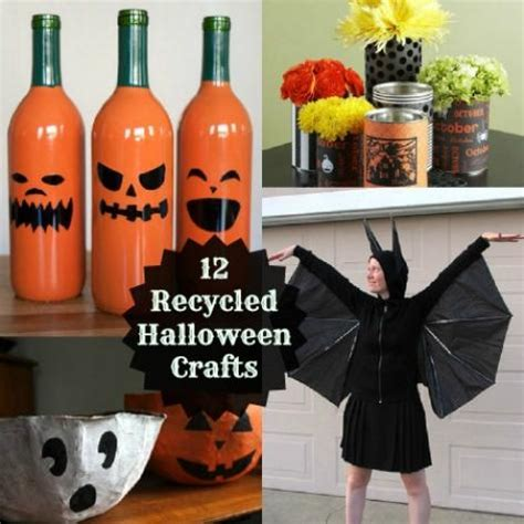 quick and easy halloween decoration ideas recycled things 12 eco friendly halloween craft projects