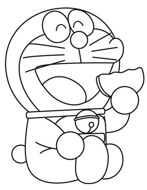 free coloring page doraemon fun learn free worksheets for kid ภาพระบายส โดราเอมอน