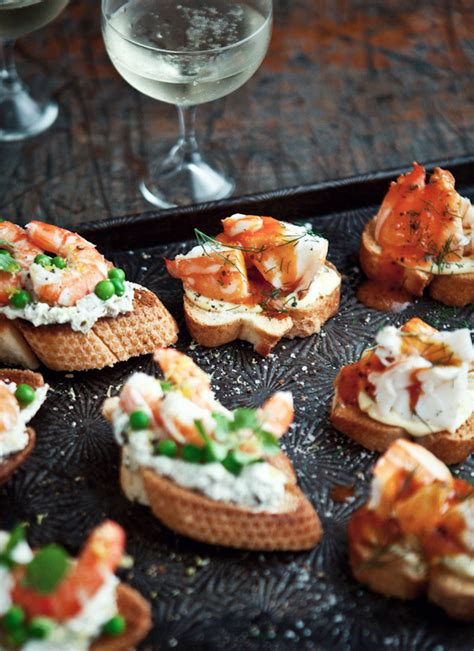 what ate 187 lobster crostini with buttery tomato and