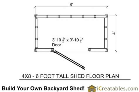 lean  shed plans   feet tall