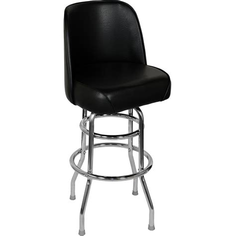 single bench bar stool chrome swivel bar stool with a single double ring