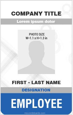 vertical id card template word 8 best professional design vertical id card templates