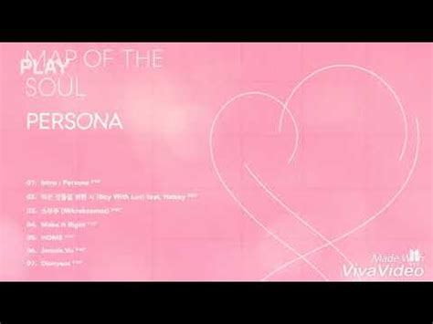 bts map   soul persona tracklist youtube