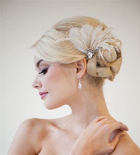 Wedding Hair With Fascinator by Bridal Fascinator Wedding Headpiece Feather Fascinator