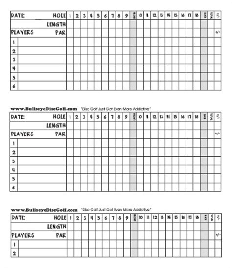 web golf score cards template scorecard template 9 free pdf documents free