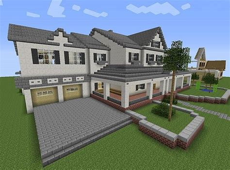 minecraft 2 story house townhouse mansion minecraft house design