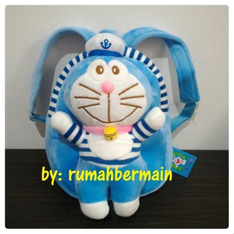Tas Paketan Ransel Doraemon jual tas doraemon boneka timbul tas anak karakter ransel