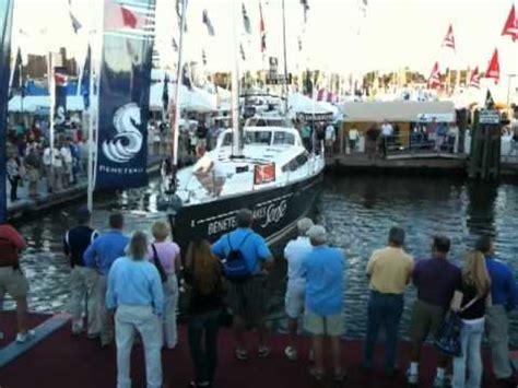 beneteau annapolis boat show beneteau sense dock go annapolis boat show 2010 youtube
