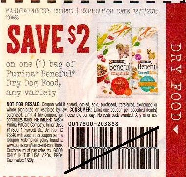 dog food coupons january 2015 purina beneful dog food only 3 00 at walgreens with