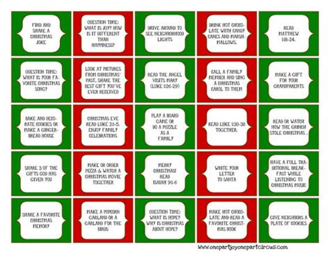 printable daily activity calendar advent daily activities free printables for your