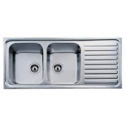 Teka stainless steel double bowl kitchen sink with drain board 119 004