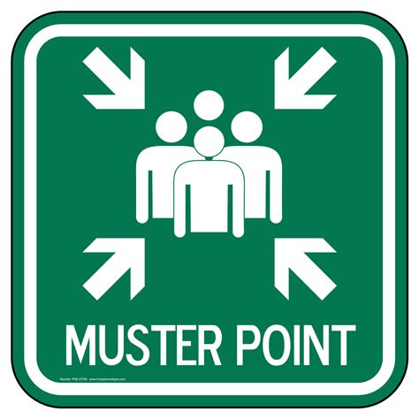 Muster Point Muster Point Sign Pke 27758 Emergency Response Rescue