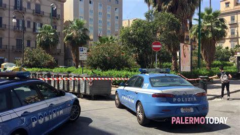 consolato palermo trolley sospetto vicino al consolato tunisino allarme