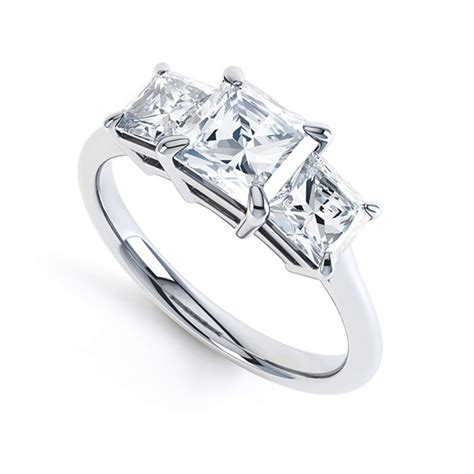 3 Engagement Ring by 3 Princess Cut Engagement Ring