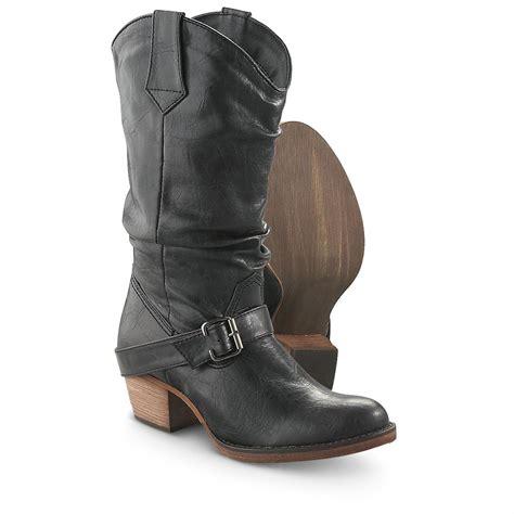 s dingo 174 12 quot slouch boots black 210235 cowboy