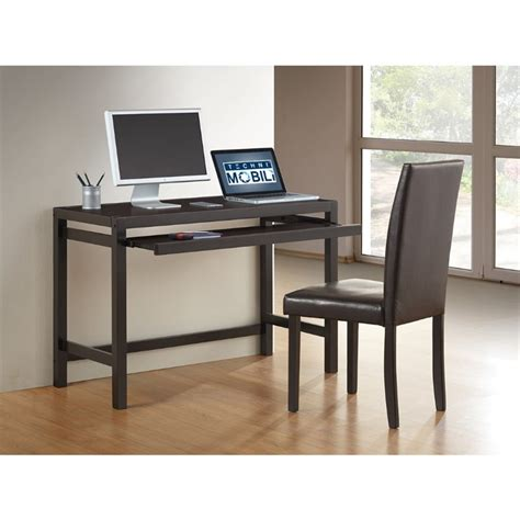 Matching Desk Accessories Techni Mobili Matching Desk With Keyboard Panel And Chair Set In Wenge Rta 3605st Wn
