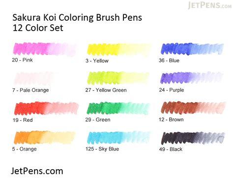 Koi Coloring Brush Pen 12 Color Set Colour Skin Tone koi coloring brush pen 12 color set jetpens