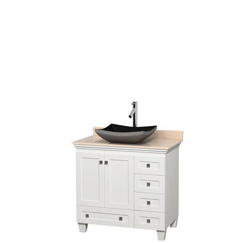 36 inch black bathroom vanity wyndham collection wcv800036swhivgs1mxx acclaim 36 inch