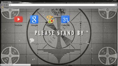 theme google chrome fallout vault tec chrome themes themebeta