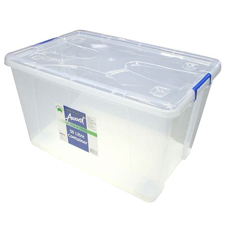 plastic bathroom storage containers award 50l pack n stack storage container with wheels ebay