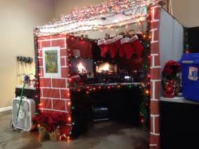How To Spell Decorate Christmas Cabin For Best Decorated Cubicle Contest At My