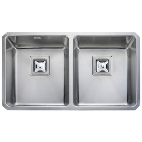 Rangemaster Atlantic Quad Stainless Steel 2 Bowl Kitchen Sink Rangemaster Kitchen Sinks